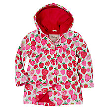 Buy Hatley Girls' Strawberry Print Raincoat, Pink Online at johnlewis.com