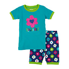 Buy Hatley Girls' Flower Hearts Shortie Pyjamas, Blue Online at johnlewis.com