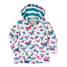 Buy Hatley Girls' Butterfly Print Raincoat, White Online at johnlewis.com