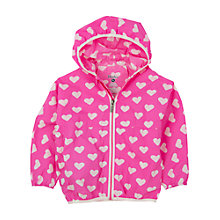 Buy Hatley Girls' Heart Print Windbreaker Jacket, Pink Online at johnlewis.com