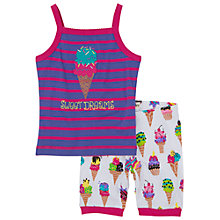 Buy Hatley Girls' Ice Cream Vest Shortie Pyjamas, Purple/Pink Online at johnlewis.com