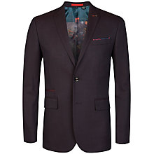 Buy Ted Baker Bayvil Birdseye Jacket, Dark Red Online at johnlewis.com