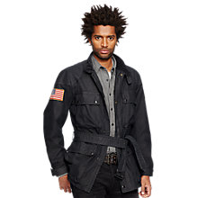 Buy Denim & Supply Ralph Lauren Waxed Cotton Moto Jacket Online at johnlewis.com