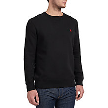 Buy Polo Ralph Lauren Athletic Fleece Top, Polo Black Online at johnlewis.com