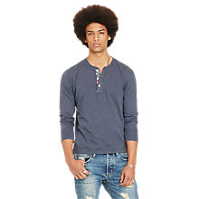 Buy Denim & Supply Ralph Lauren Henley Flag Placket Jersey Top Online at johnlewis.com