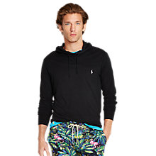 Buy Polo Ralph Lauren Jersey Hoodie, Polo Black Online at johnlewis.com