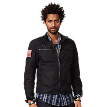 Buy Denim & Supply Ralph Lauren Motorcycle Lined Jacket, Polo Black Online at johnlewis.com