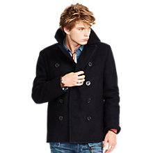 Buy Denim & Supply Ralph Lauren Wilton Wool Peacoat, Navy Online at johnlewis.com