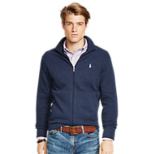 Buy Polo Ralph Lauren Jersey Zip Through Top, Winter Navy Heather Online at johnlewis.com