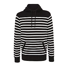 Buy Polo Ralph Lauren Stripe Hoodie, Polo Black/White Online at johnlewis.com