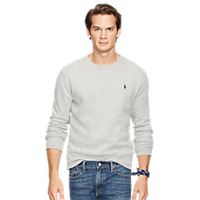 Buy Polo Ralph Lauren Fleece Jumper, Flagstone Heather Online at johnlewis.com