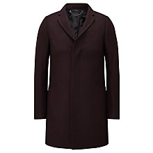 Buy Kin by John Lewis Loft Compact Melton Overcoat, Claret Online at johnlewis.com