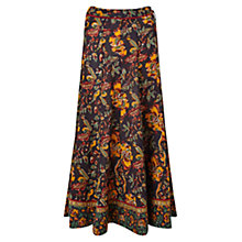 Buy East Samode Print Skirt, Black Online at johnlewis.com