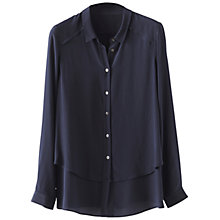 Buy Poetry Pure Silk Shirt, Blue/Black Online at johnlewis.com