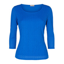 Buy Planet Wave Textured Top, Blue Online at johnlewis.com