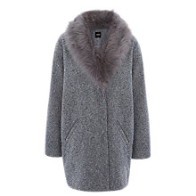 Buy Oasis Tweed Cocoon Coat Online at johnlewis.com