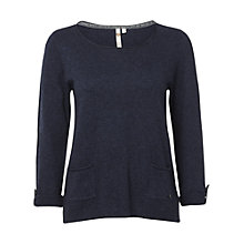 Buy White Stuff Barnie Pocket Jumper, Navy Online at johnlewis.com