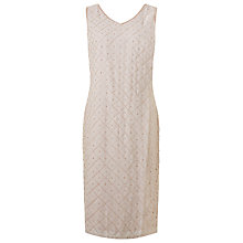 Buy Jacques Vert Pearl Shift Dress, Mid Neutral Online at johnlewis.com
