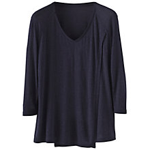 Buy Poetry Cross Over Front Jersey Top, Blue/Black Online at johnlewis.com