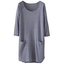 Buy Poetry Hemp Cotton Jersey Tunic Dress, Blue Steel Online at johnlewis.com
