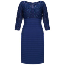 Buy Adrianna Papell Passementry Embroidery Banded Dress, Admiral Online at johnlewis.com