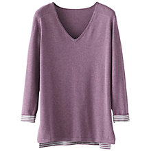Buy Poetry Striped Cotton Sweater, Berry Online at johnlewis.com