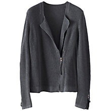 Buy Poetry Cotton Biker Knitted Jacket Online at johnlewis.com