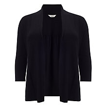 Buy Studio 8 Molly Plain Shawl Collar Cardigan, Black Online at johnlewis.com
