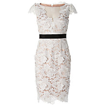 Buy Adrianna Papell 3D Floral Guipure Cocktail Dress Online at johnlewis.com