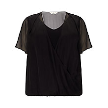 Buy Studio 8 Beatrice Wrap Silk Blouse, Black Online at johnlewis.com
