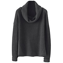 Buy Poetry Ribbed Knit Sweater Jumper, Charcoal Online at johnlewis.com