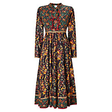 Buy East Samode Print Dress, Black Online at johnlewis.com