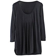 Buy Poetry Box Pleats Top, Blue/Black Online at johnlewis.com