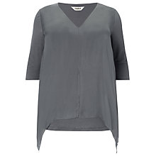 Buy Studio 8 Josie Silk Tunic, Charcoal Online at johnlewis.com