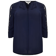 Buy Studio 8 Cheryl Lace Blouse, Navy Online at johnlewis.com