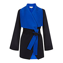 Buy Hobbs Layton Waterfall Wool Coat, Cobalt / Navy Online at johnlewis.com