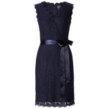 Buy Adrianna Papell Wrap Front Cocktail Dress, Navy Online at johnlewis.com
