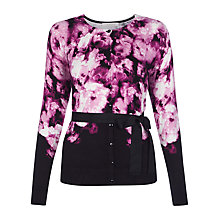 Buy Kaliko Peony Printed Cardigan, Pink/Black Online at johnlewis.com