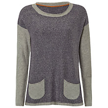 Buy White Stuff Stripy Box Jumper, Midnight Mauve Online at johnlewis.com