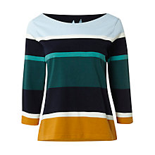 Buy White Stuff Solo Stripe Cotton Tee, Multi Online at johnlewis.com