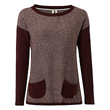Buy White Stuff Stripy Box Jumper, Plum Online at johnlewis.com