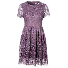 Buy True Decadence Lace Skater Dress, Purple Online at johnlewis.com