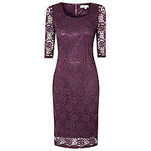 Buy True Decadence Lace Layer Midi Dress, Purple Online at johnlewis.com