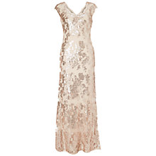 Buy Adrianna Papell Sequin Lace Cap Sleeve Gown, Cashmere Online at johnlewis.com