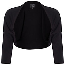 Buy Adrianna Papell Cuffed Dolman Sleeve Bolero Jacket, Black Online at johnlewis.com
