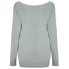 Buy Reiss Helene Scoop Back Jumper, Soft Baltic Blue Online at johnlewis.com