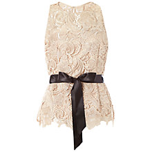 Buy Adrianna Papell Guipure Lace Halter Top, Champagne Online at johnlewis.com