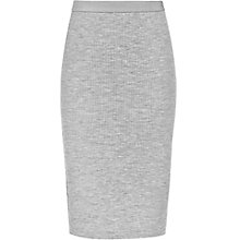 Buy Reiss Dalane Ribbed Skirt, Soft Grey Online at johnlewis.com