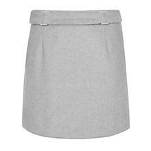 Buy Reiss Wool Tokyo A-Line Mini Skirt, Soft Grey Online at johnlewis.com