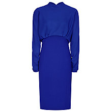 Buy Reiss Arwen Contrast Dress, Vibrant Blue Online at johnlewis.com